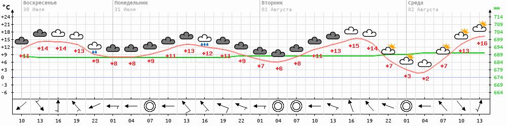 Метеограмма Делянкир
