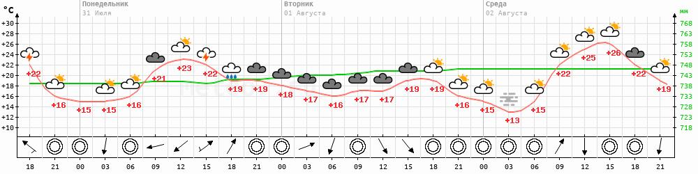 Метеограмма Кологрив