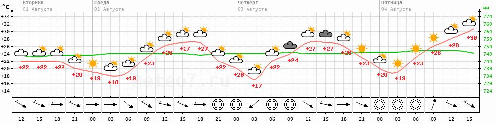Метеограмма Казань