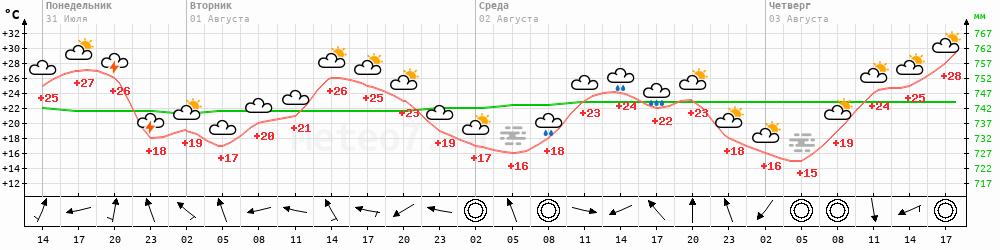 Метеограмма Пермь