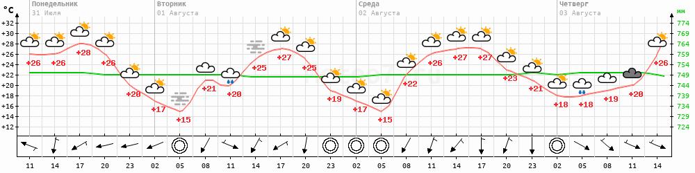 Метеограмма Шадринск
