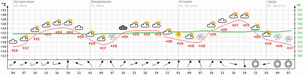 Метеограмма Ачинск