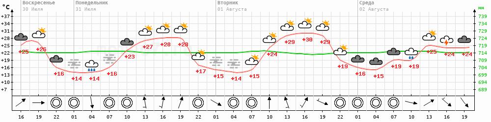 Метеограмма Артемовск