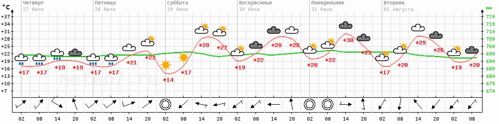 Метеограмма Хоринск